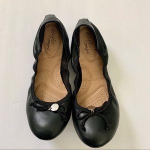 Dexflex Comfort | Black Scrunch Ballet Flats